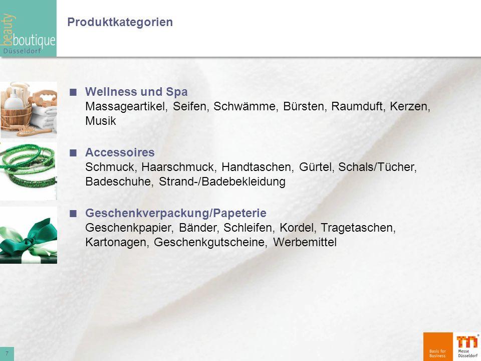 Produktkategorien Wellness und Spa Massageartikel, Seifen, Schwämme, Bürsten, Raumduft, Kerzen, Musik.