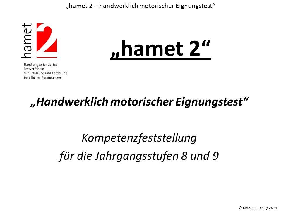 """""""hamet 2 – handwerklich motorischer Eignungstest"""