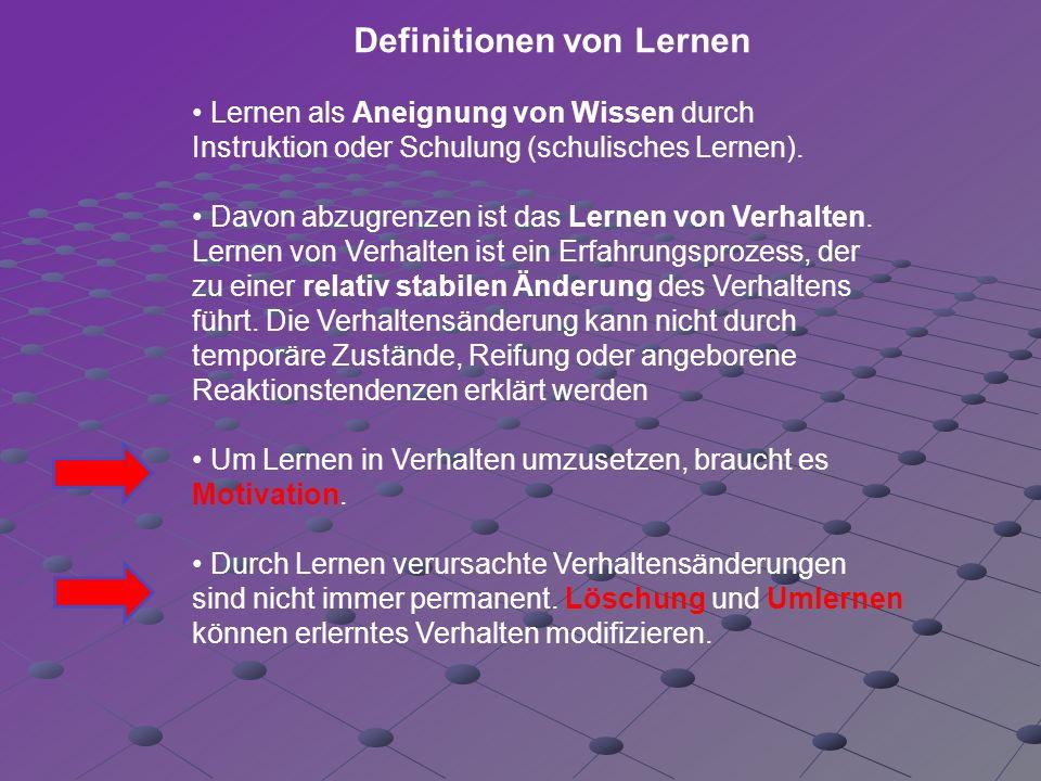 Definitionen von Lernen