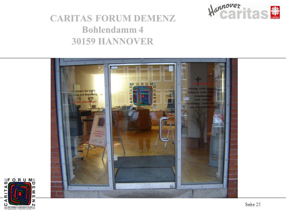 CARITAS FORUM DEMENZ Bohlendamm 4 30159 HANNOVER
