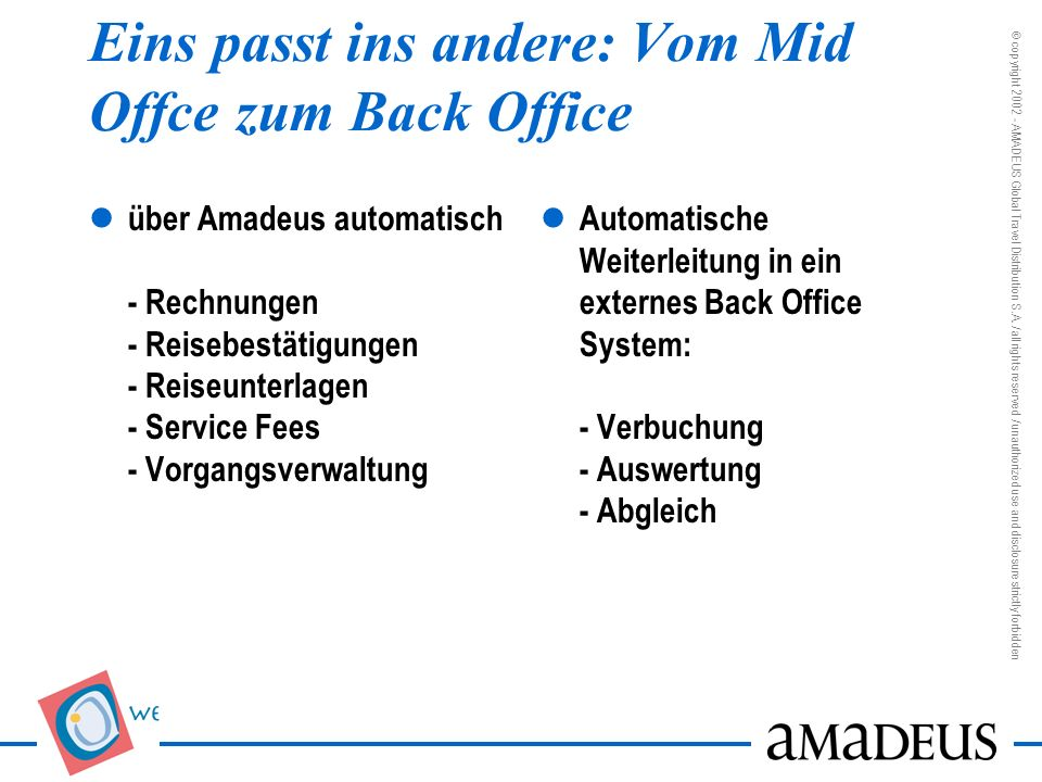 Eins passt ins andere: Vom Mid Offce zum Back Office
