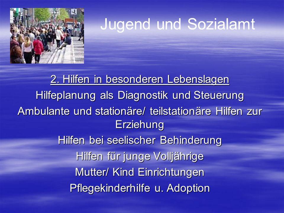 Jugend und Sozialamt 2. Hilfen in besonderen Lebenslagen