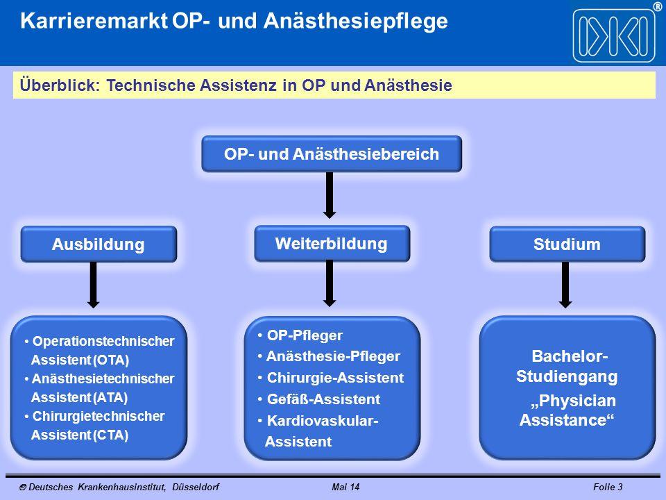 """OP- und Anästhesiebereich Bachelor-Studiengang """"Physician Assistance"""