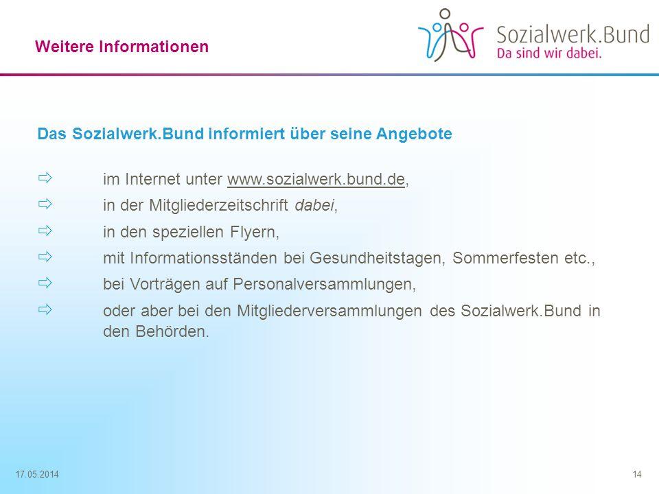 im Internet unter www.sozialwerk.bund.de,