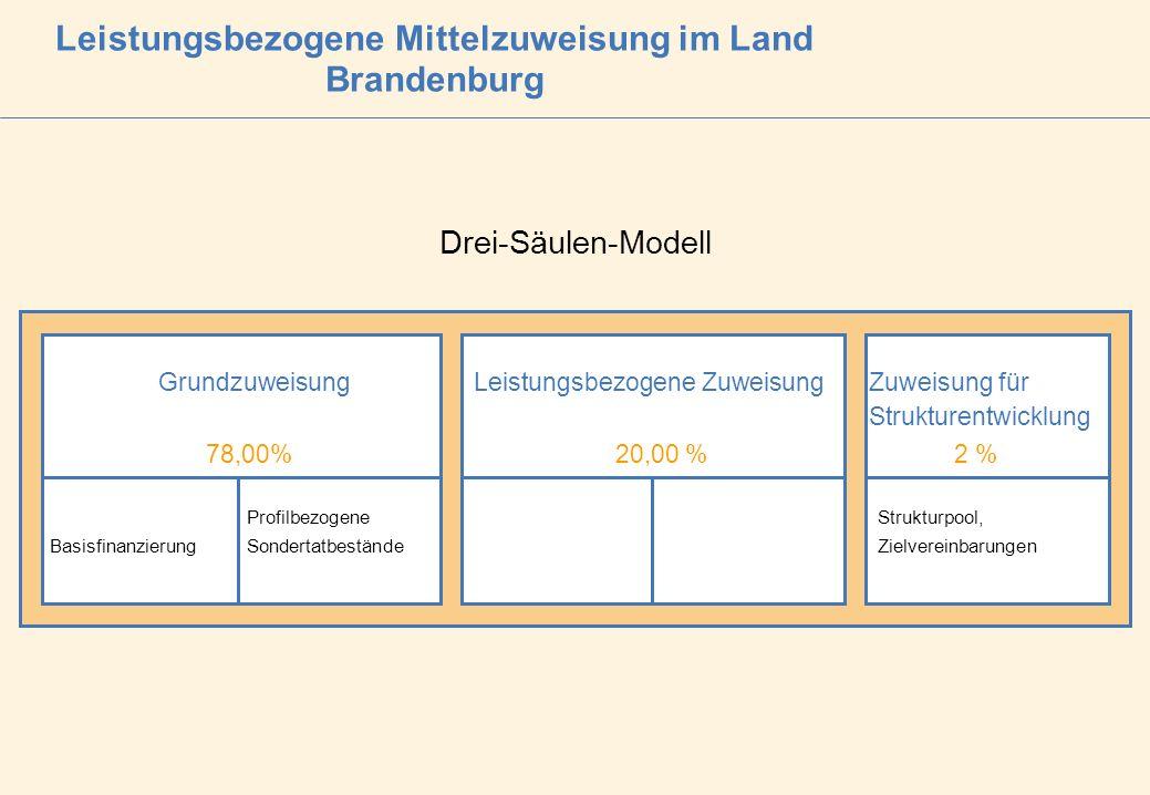 Leistungsbezogene Mittelzuweisung im Land Brandenburg