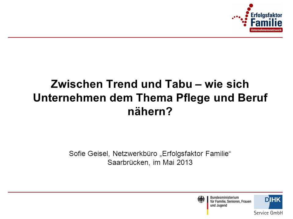 Zwischen Trend und Tabu – wie sich Unternehmen dem Thema Pflege und Beruf nähern.