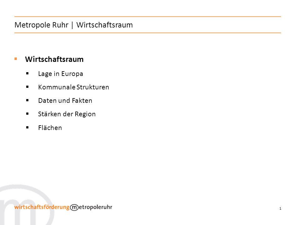 Metropole Ruhr | Wirtschaftsraum