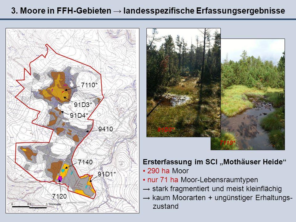 3. Moore in FFH-Gebieten → landesspezifische Erfassungsergebnisse