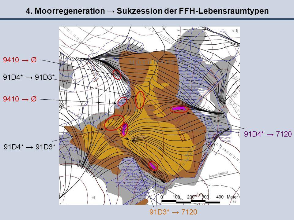 4. Moorregeneration → Sukzession der FFH-Lebensraumtypen