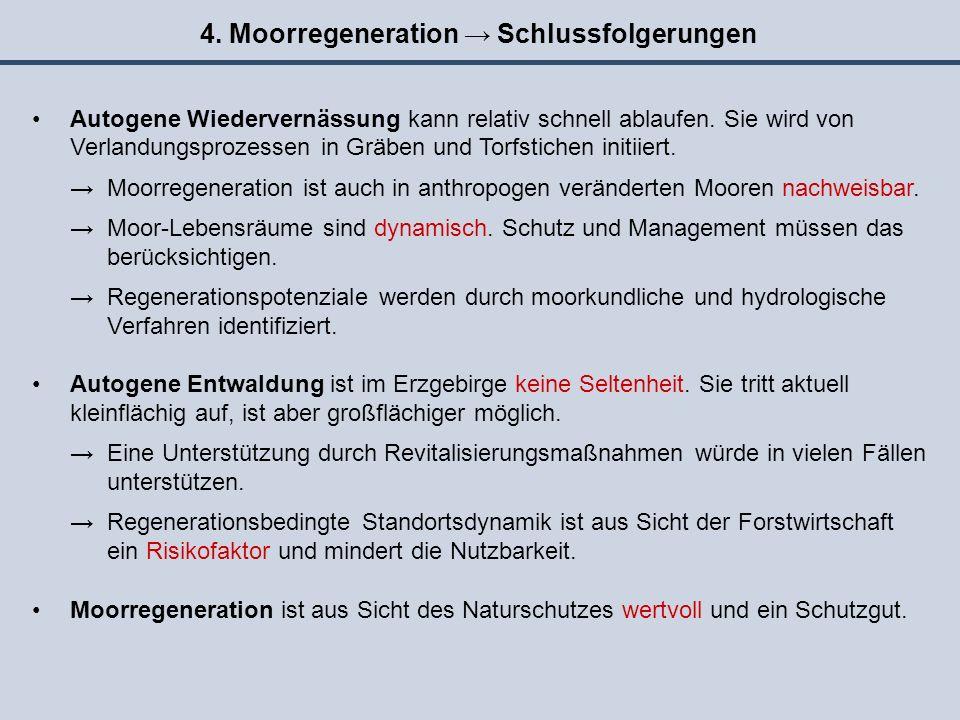 4. Moorregeneration → Schlussfolgerungen