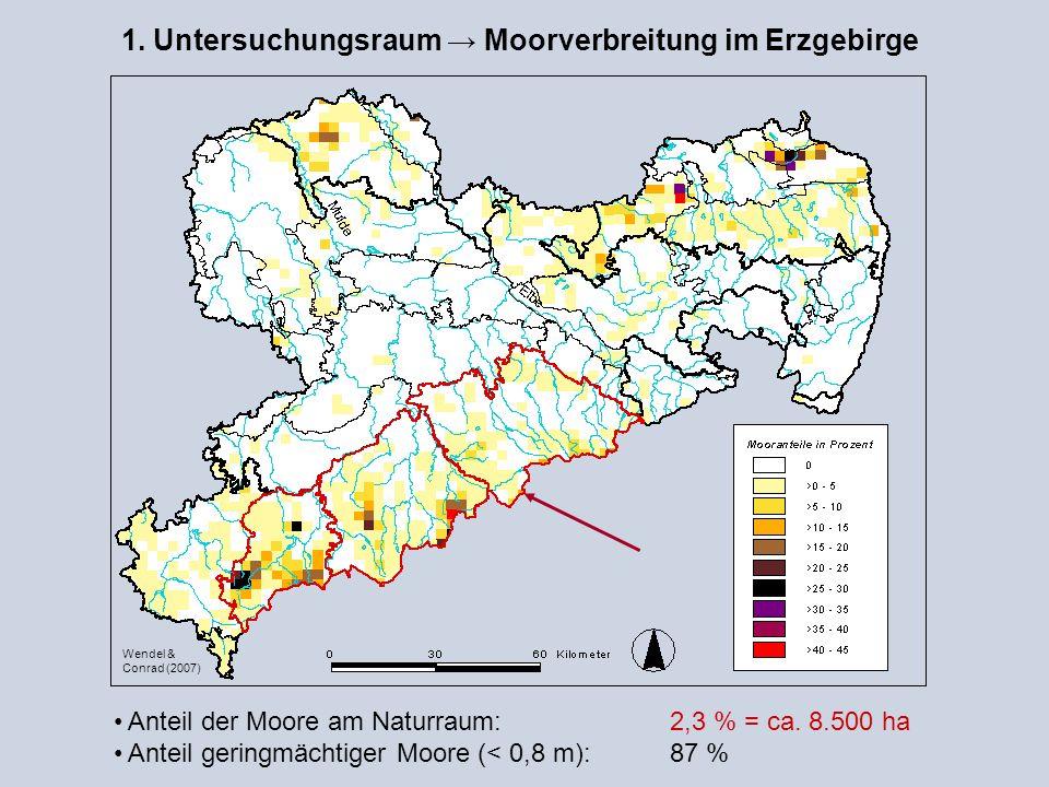 1. Untersuchungsraum → Moorverbreitung im Erzgebirge