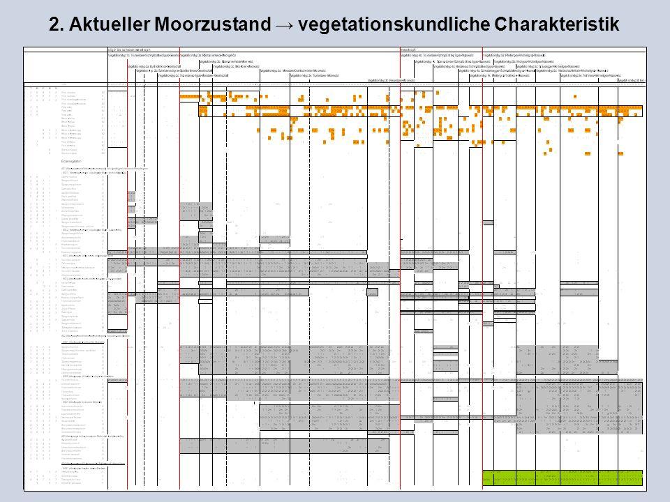 2. Aktueller Moorzustand → vegetationskundliche Charakteristik