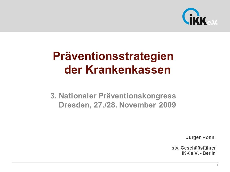 Präventionsstrategien der Krankenkassen
