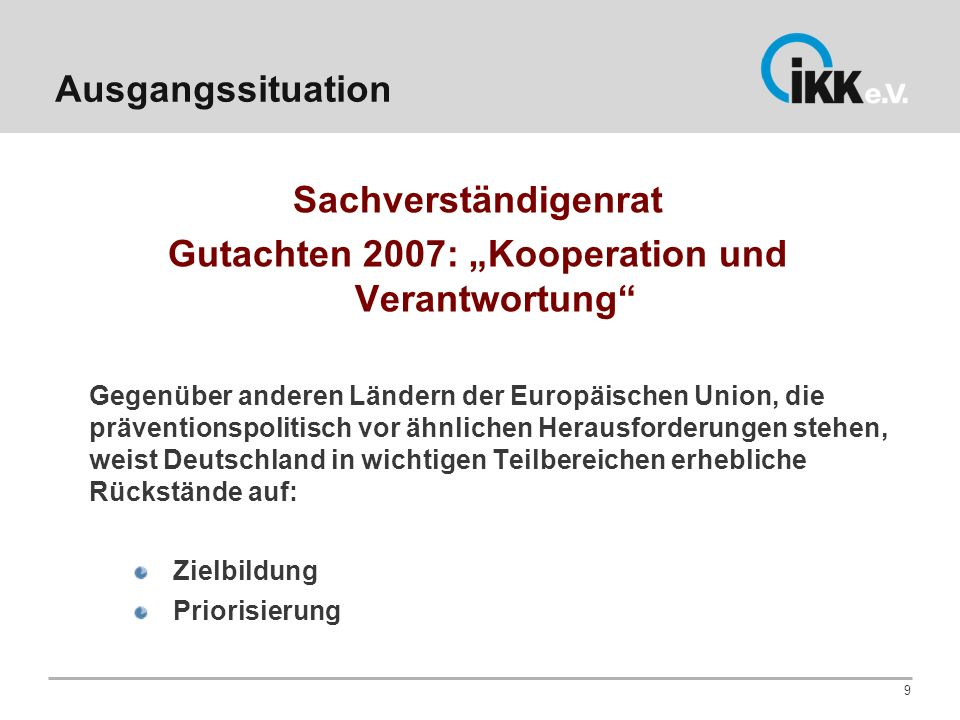 """Gutachten 2007: """"Kooperation und Verantwortung"""
