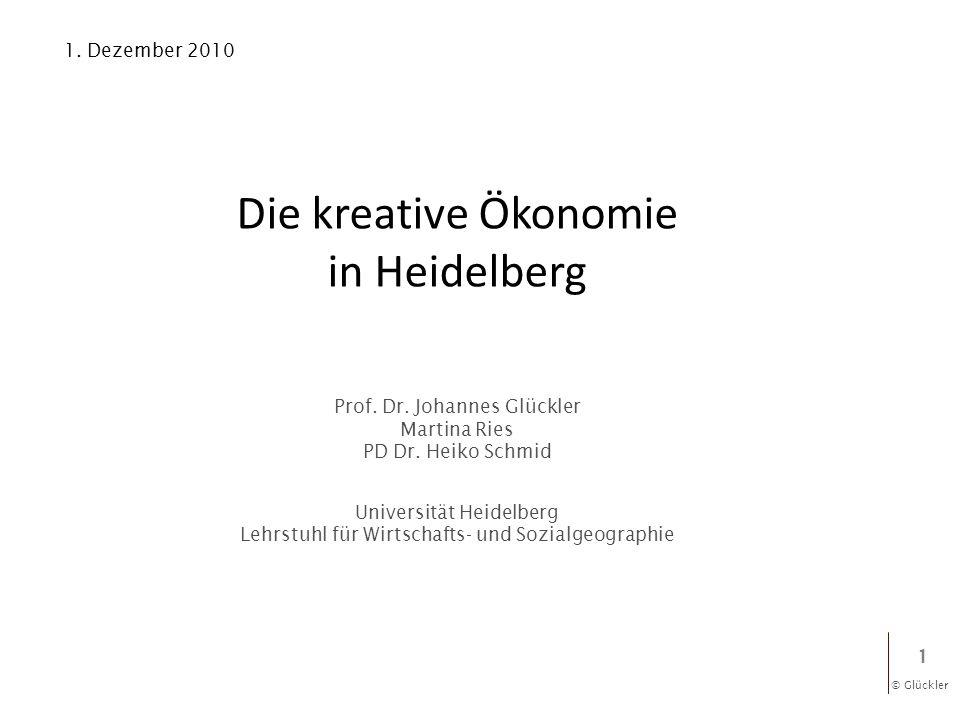 Die kreative Ökonomie in Heidelberg