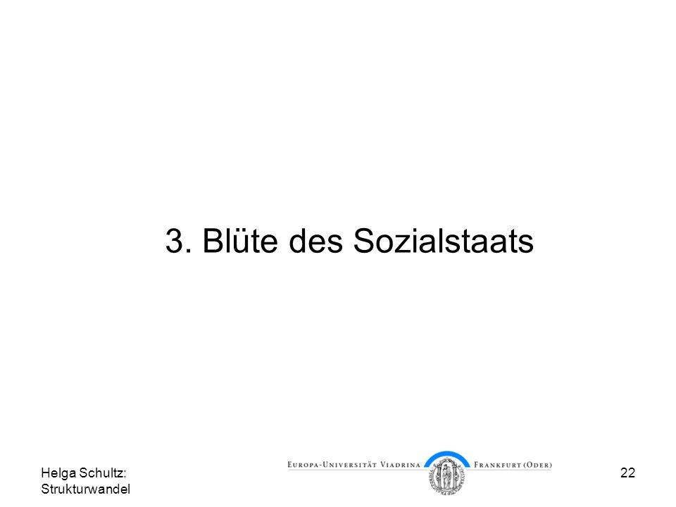 3. Blüte des Sozialstaats