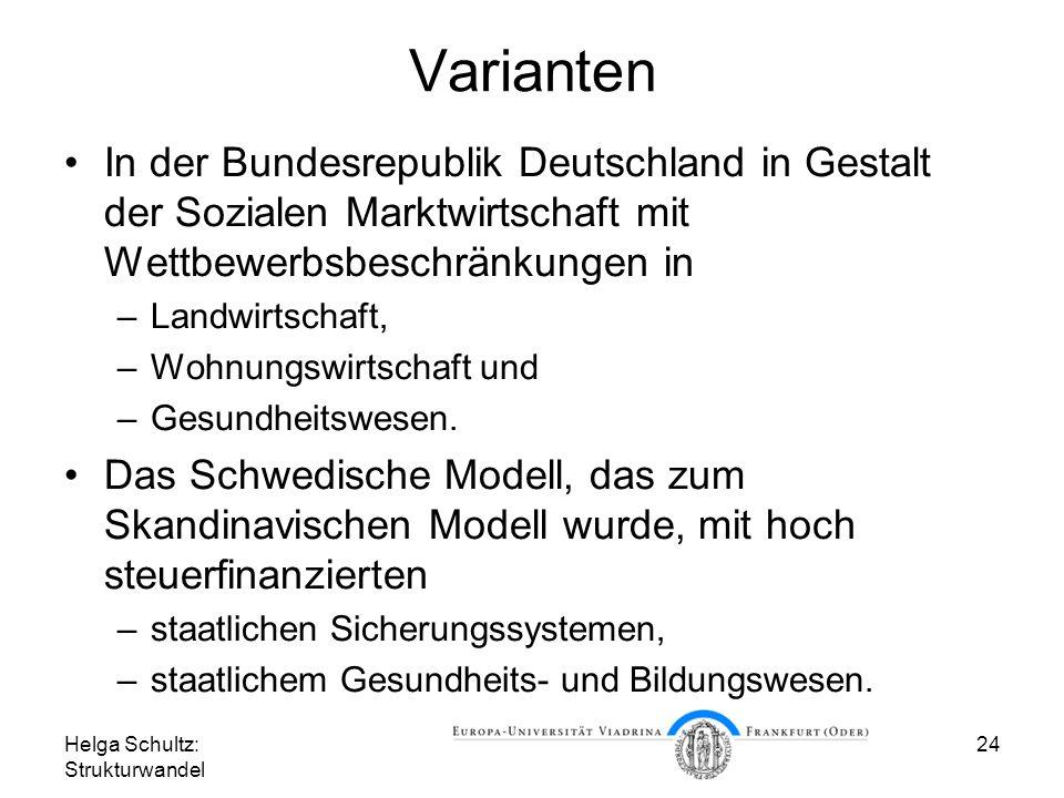 Varianten In der Bundesrepublik Deutschland in Gestalt der Sozialen Marktwirtschaft mit Wettbewerbsbeschränkungen in.