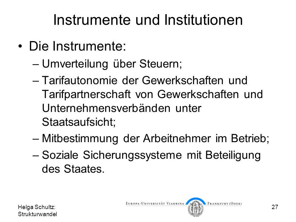 Instrumente und Institutionen