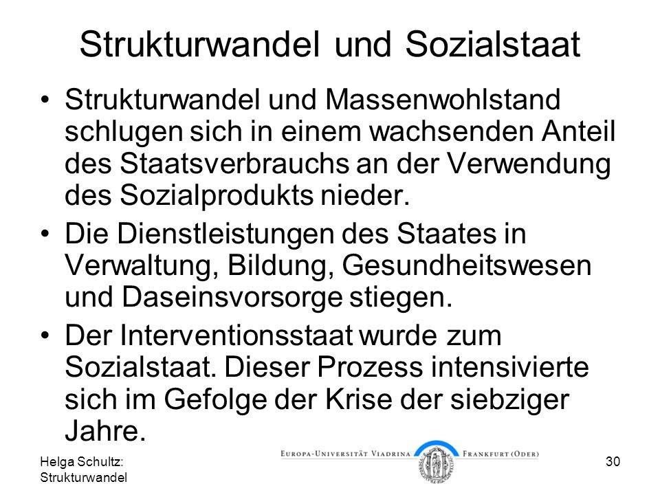 Strukturwandel und Sozialstaat