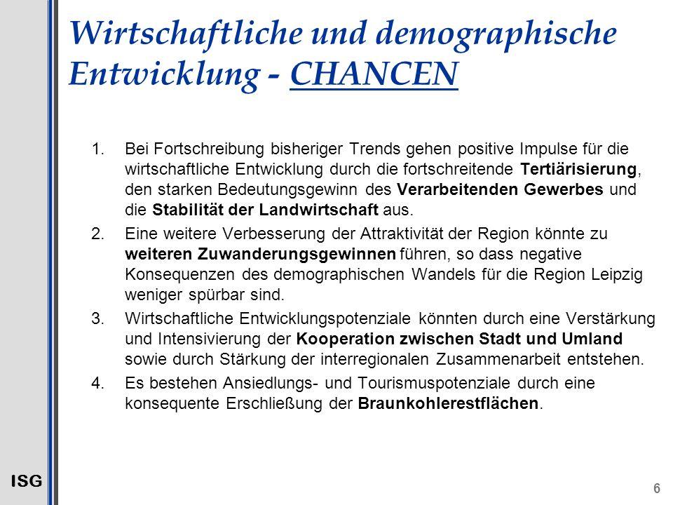 Wirtschaftliche und demographische Entwicklung - CHANCEN