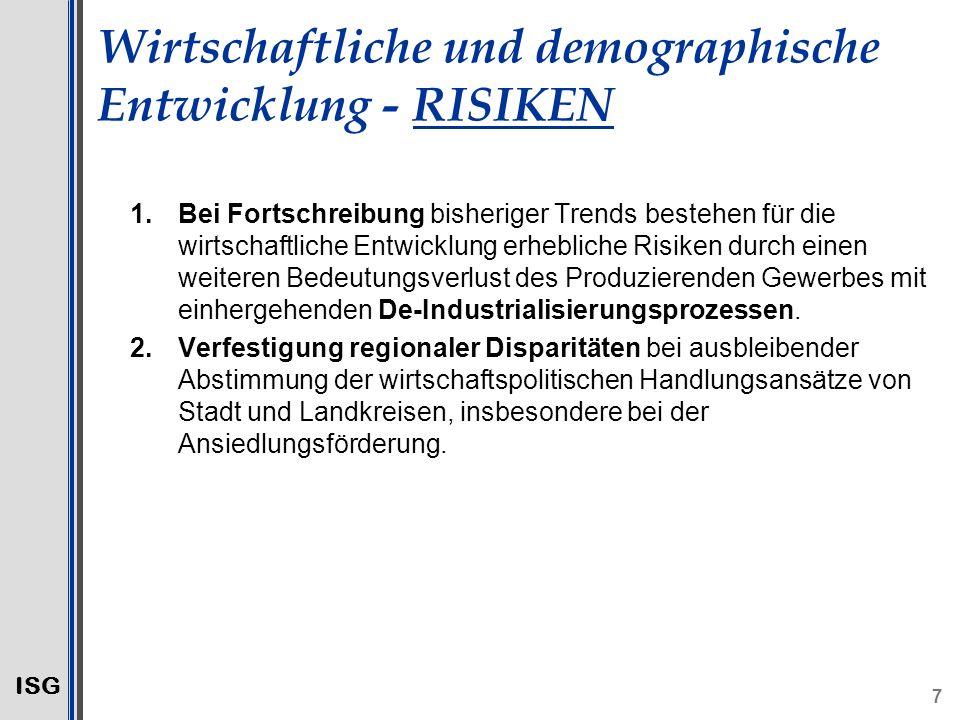 Wirtschaftliche und demographische Entwicklung - RISIKEN