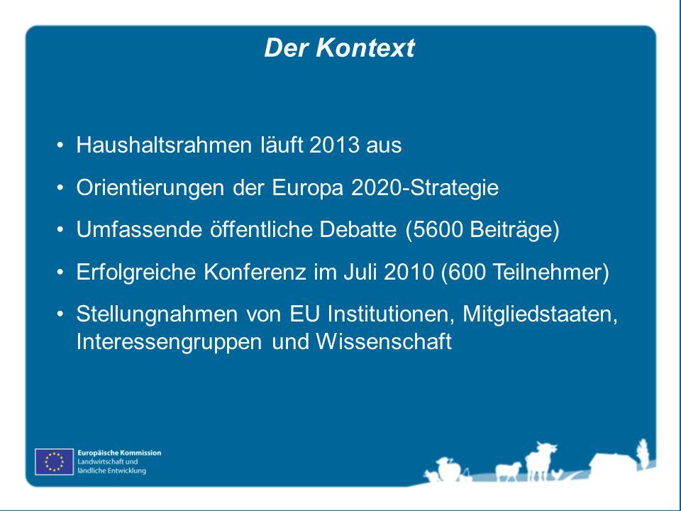 Der Kontext Haushaltsrahmen läuft 2013 aus