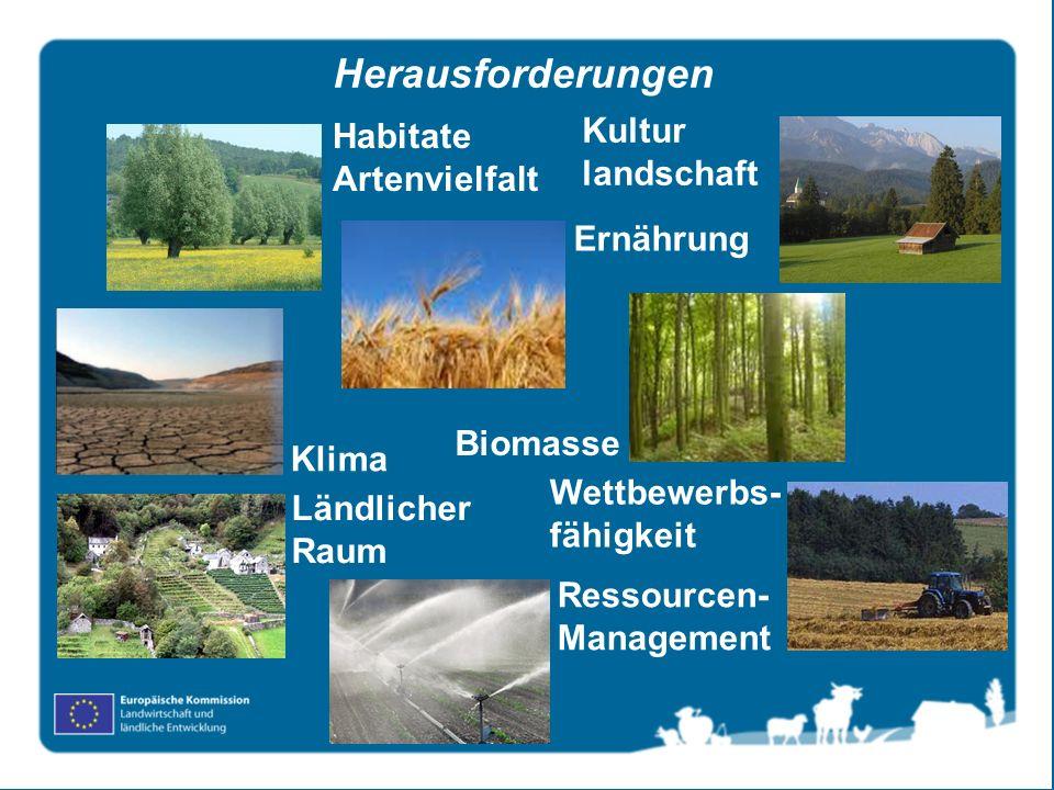 Herausforderungen Kultur landschaft Habitate Artenvielfalt Ernährung