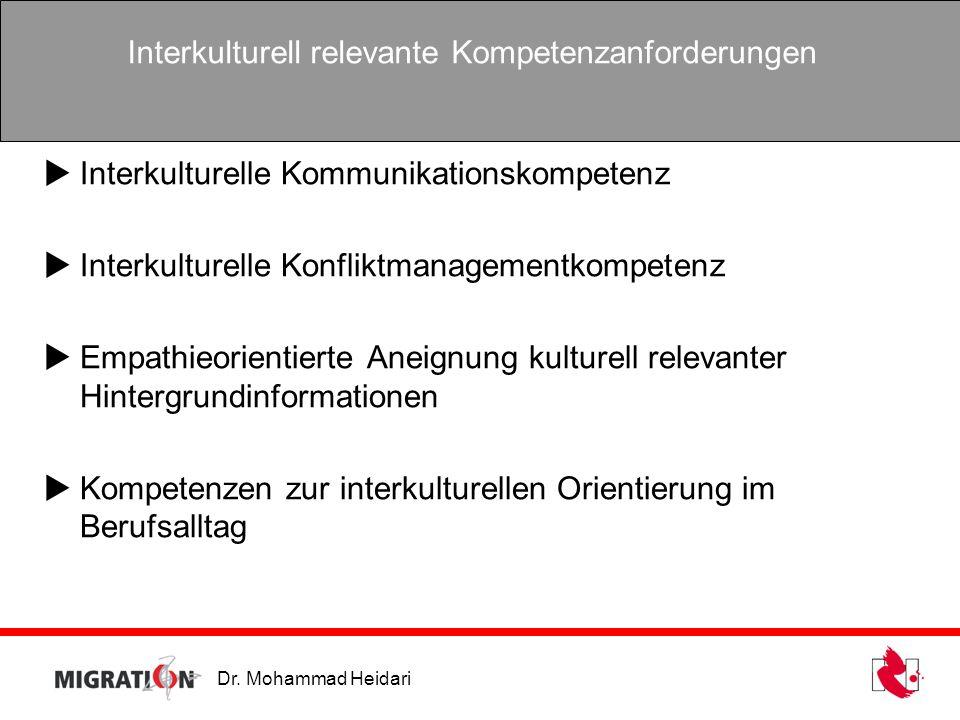 Interkulturell relevante Kompetenzanforderungen