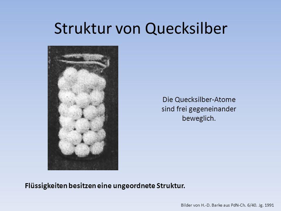 Struktur von Quecksilber