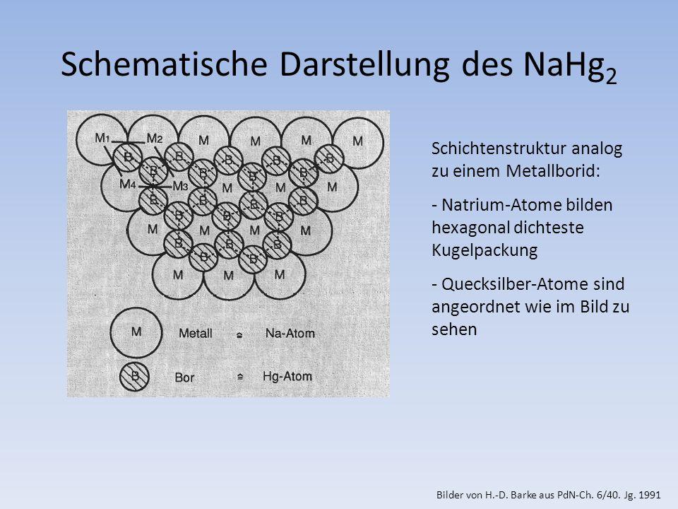 Schematische Darstellung des NaHg2