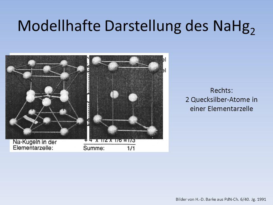 Modellhafte Darstellung des NaHg2