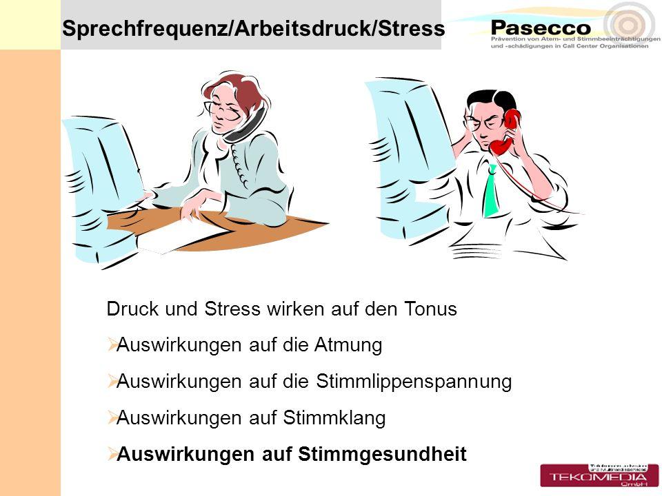 Sprechfrequenz/Arbeitsdruck/Stress