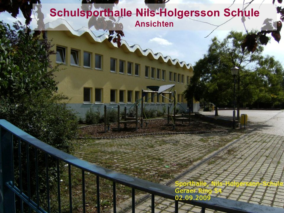 Schulsporthalle Nils-Holgersson Schule Ansichten