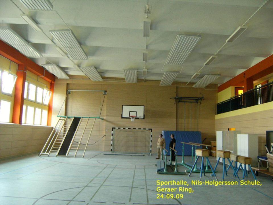 Turnhalle Nils-Holgersson-Schule Ansichten innen I