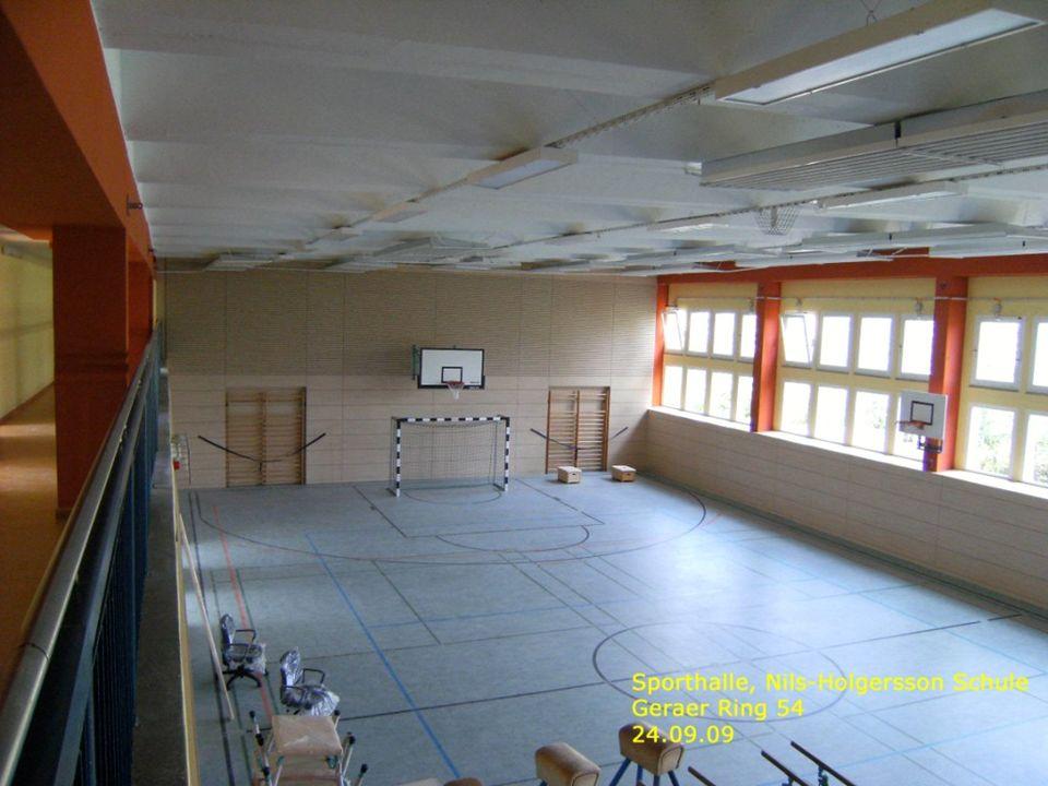 Turnhalle Nils-Holgersson-Schule Ansichten innen II