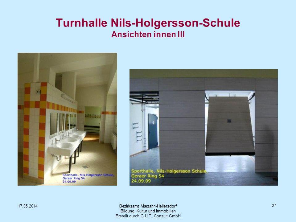 Turnhalle Nils-Holgersson-Schule Ansichten innen III