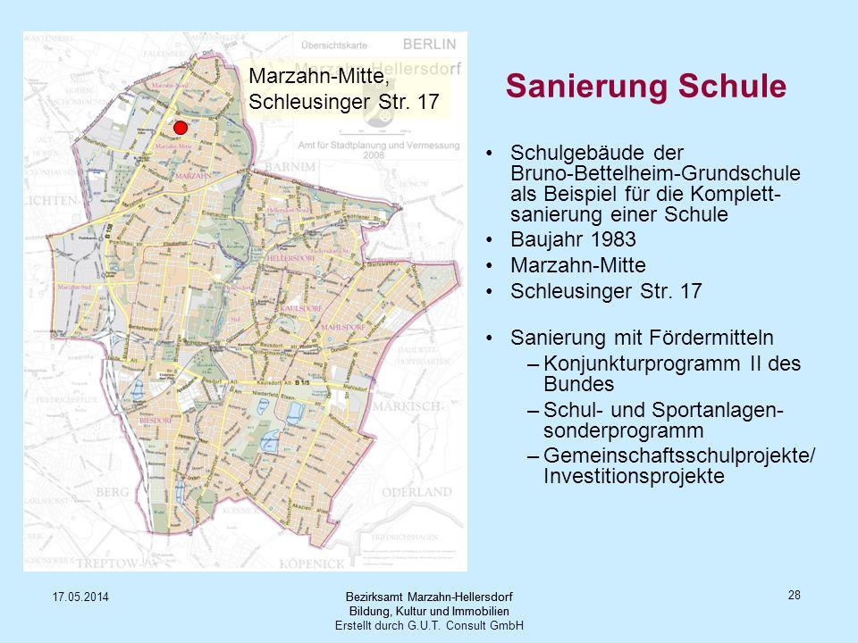 Sanierung Schule Marzahn-Mitte, Schleusinger Str. 17