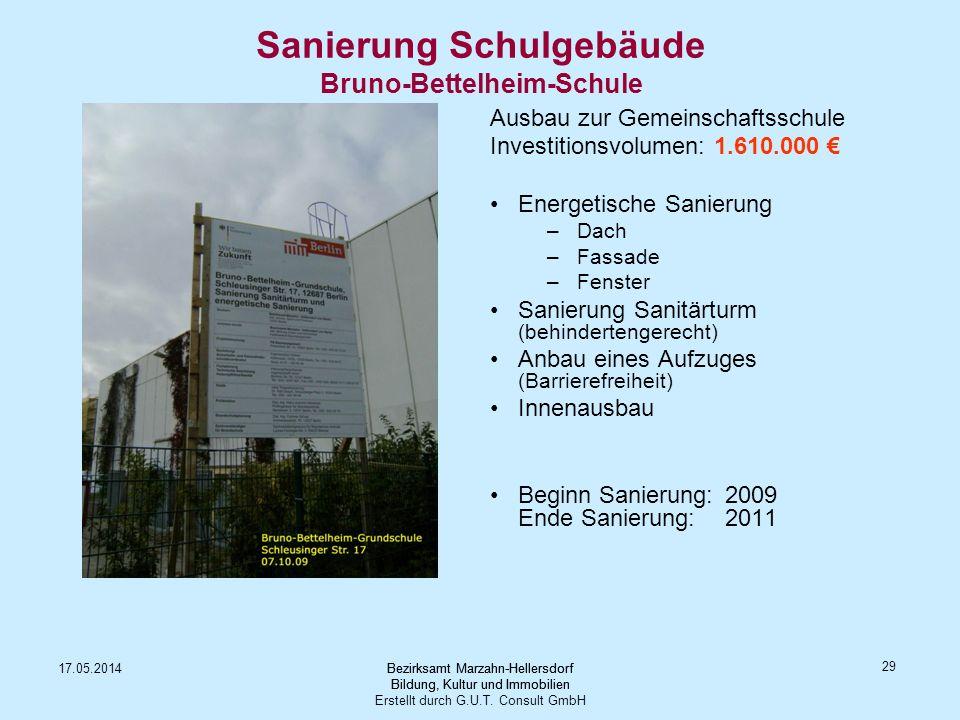 Sanierung Schulgebäude Bruno-Bettelheim-Schule