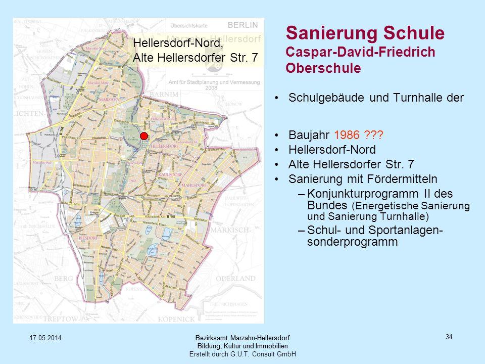 Sanierung Schule Caspar-David-Friedrich Oberschule