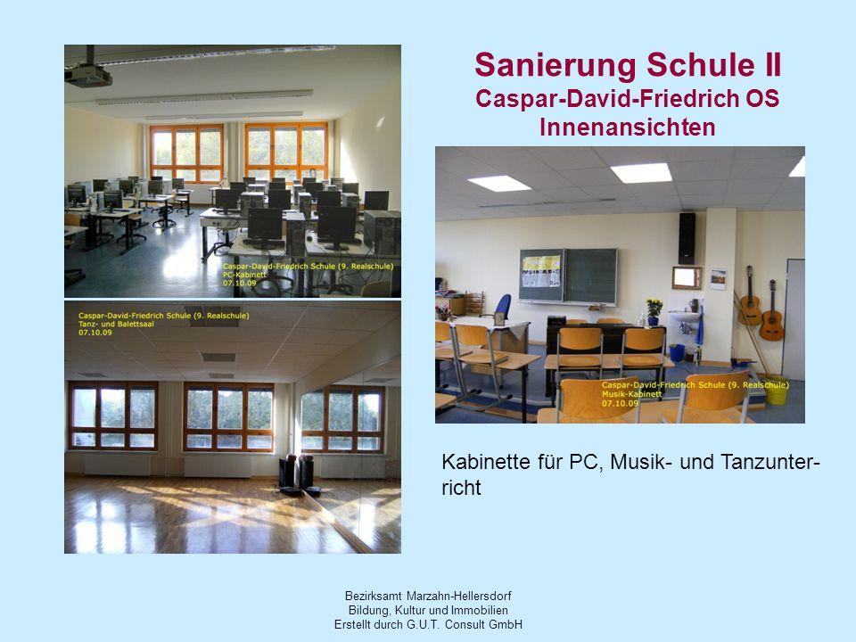 Sanierung Schule II Caspar-David-Friedrich OS Innenansichten