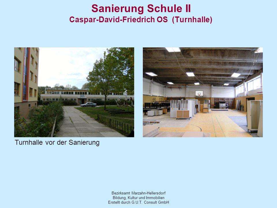 Sanierung Schule II Caspar-David-Friedrich OS (Turnhalle)