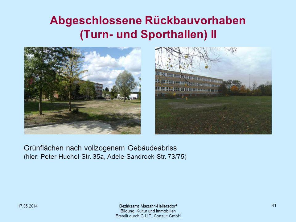 Abgeschlossene Rückbauvorhaben (Turn- und Sporthallen) II