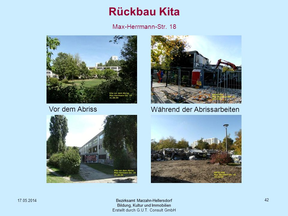 Rückbau Kita Max-Herrmann-Str. 18