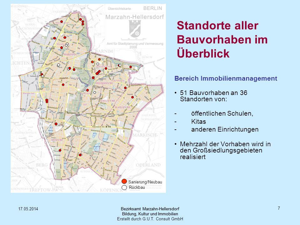 Standorte aller Bauvorhaben im Überblick