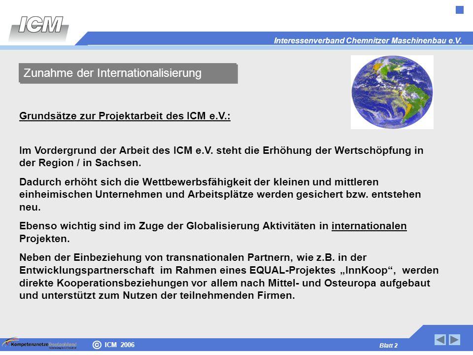 Zunahme der Internationalisierung