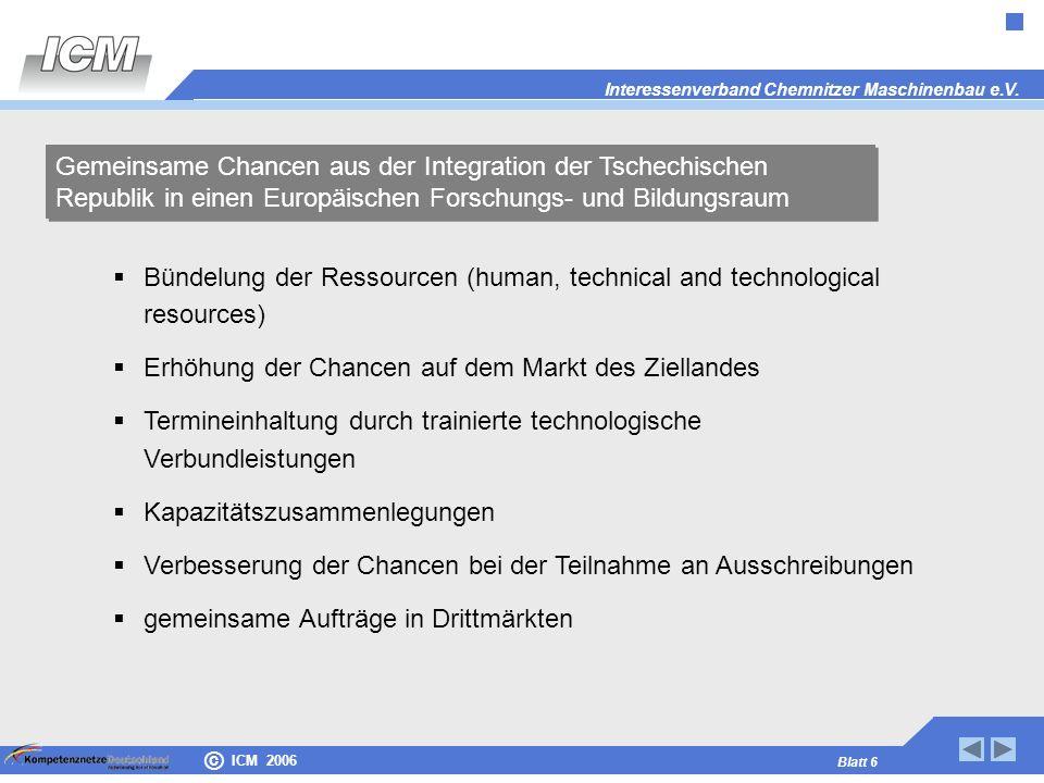 Gemeinsame Chancen aus der Integration der Tschechischen Republik in einen Europäischen Forschungs- und Bildungsraum