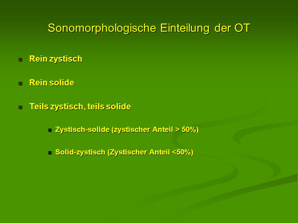 Sonomorphologische Einteilung der OT