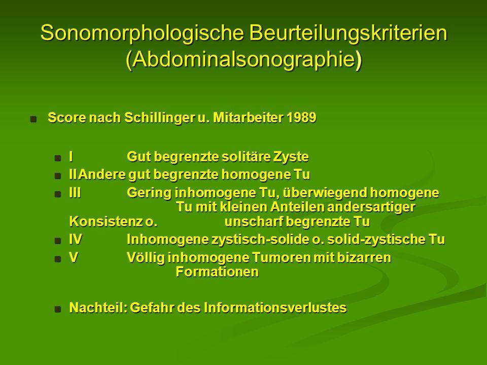 Sonomorphologische Beurteilungskriterien (Abdominalsonographie)