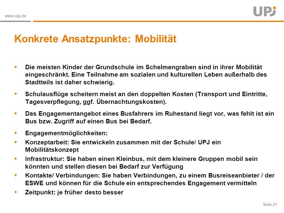 Konkrete Ansatzpunkte: Mobilität