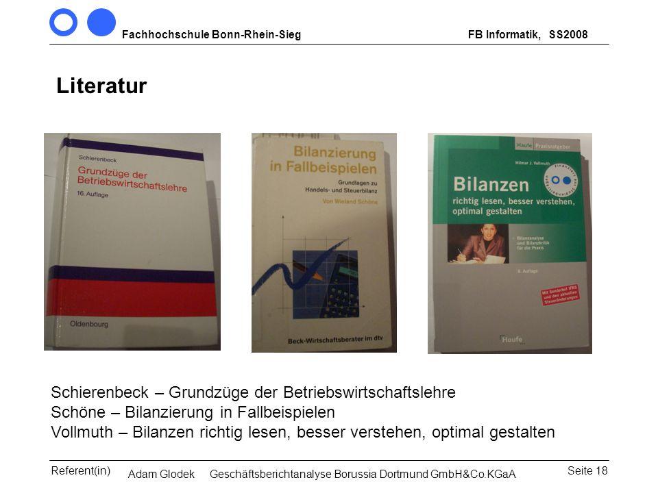 SS2008 Literatur.